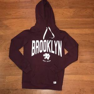 Maroon boyfriend hoodie